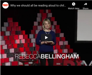 "Rebecca Bellingham presents at TEDx - ""Why we should all be reading aloud to children."""