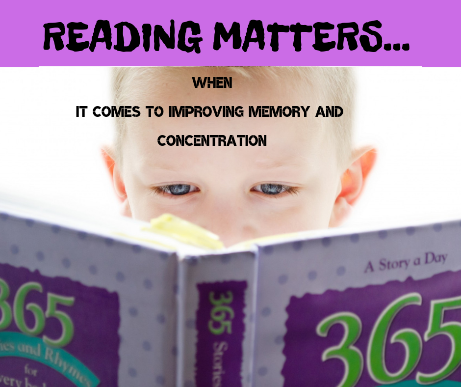 Reading matters when it comes to improving memory and concentration. www.LBLiteracy.co.za