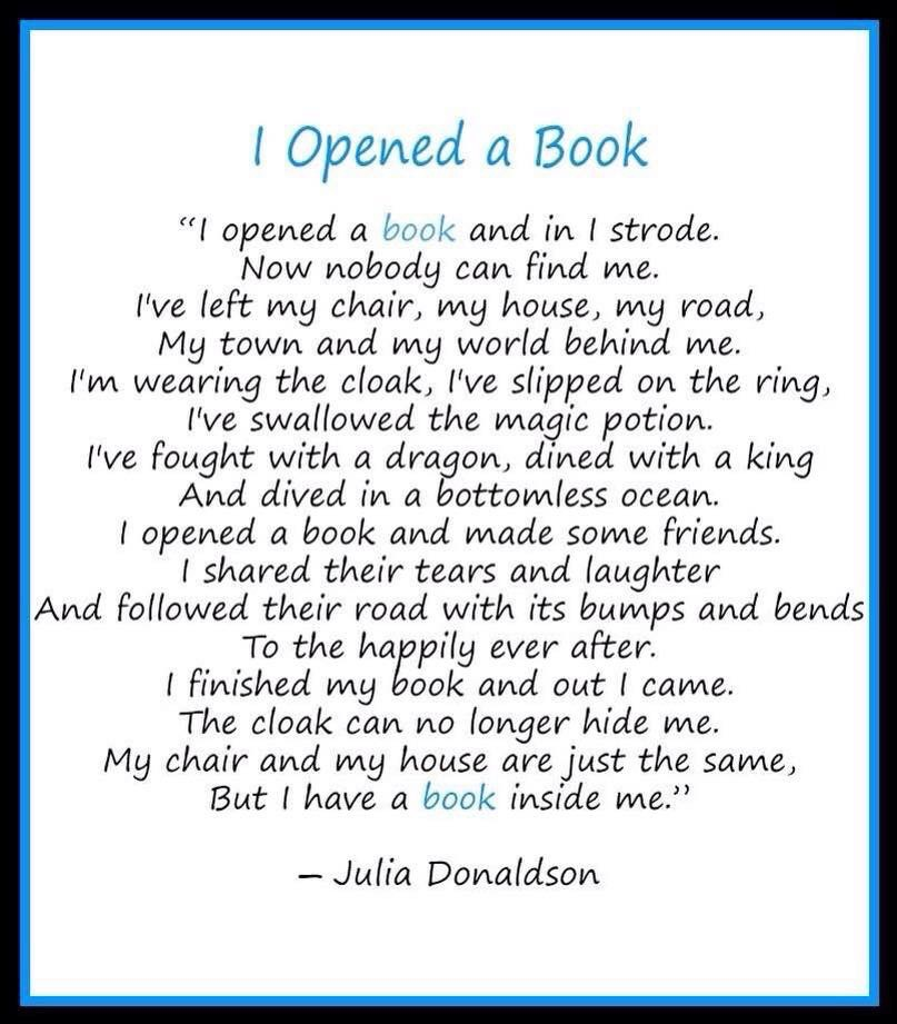 I opened a book by Julia Donaldson. www.LBLiteracy.co.za